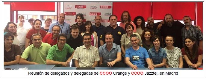 Delegadas y Delegados de Orange y Jazztel