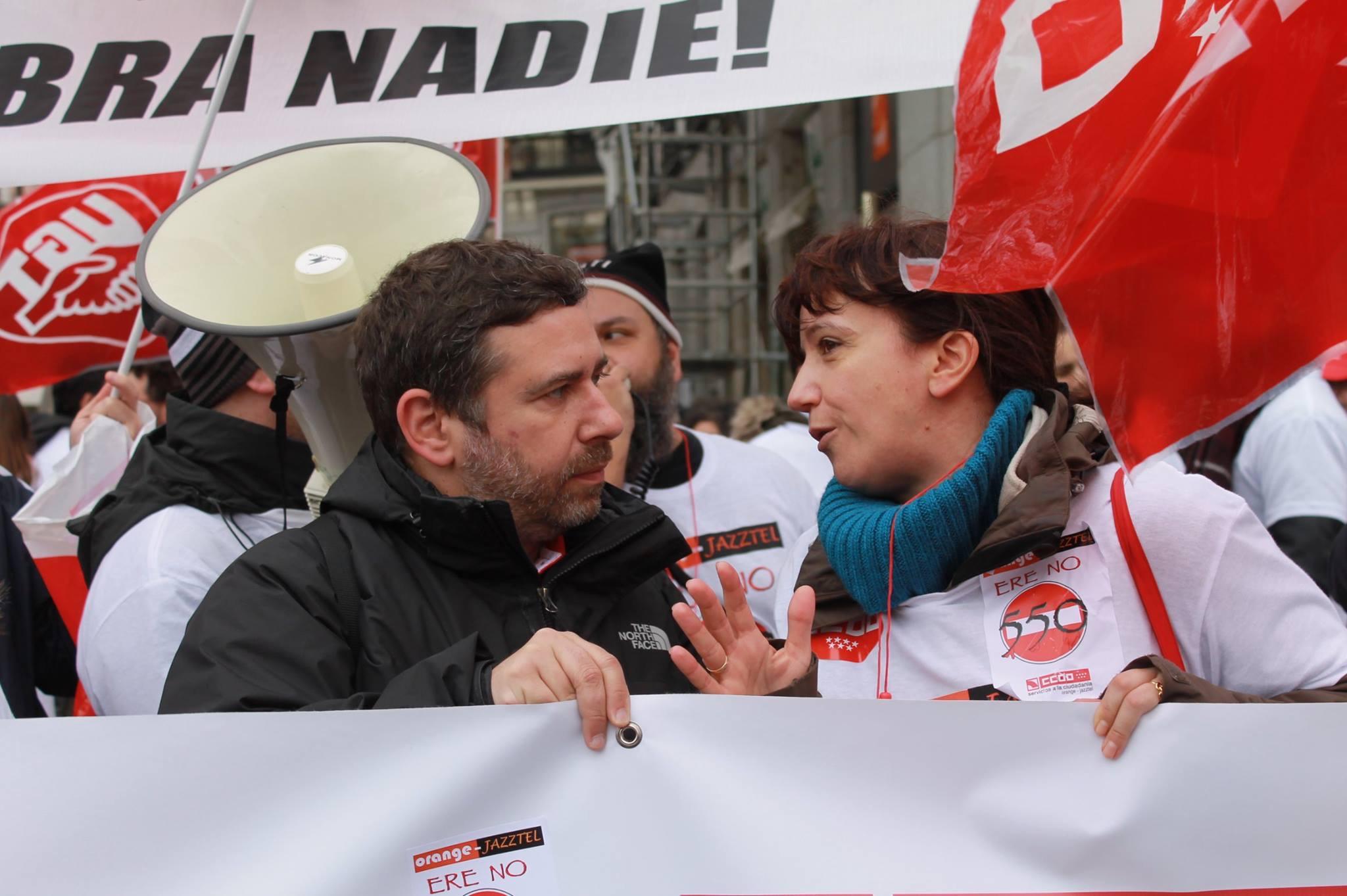 Manifestacion contra el ERE en Orange Foto5